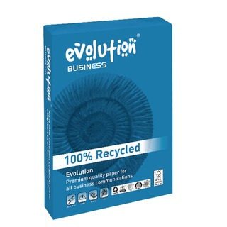 White A4 100gsm Business Recycled Paper Ream 500 EVBU211