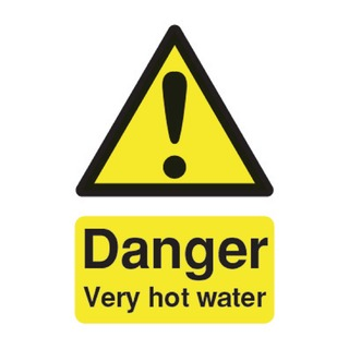 fety Sign Danger Very Hot Water 75x50mm PVC HA17343