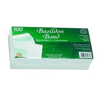 DL Window Envelope 120gsm Peel and Seal White (100 Pack)