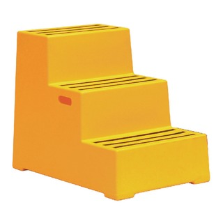 Yellow Plastic 3 Step Safety Step 325100