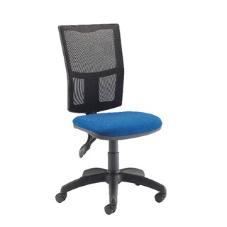 High Back Mesh Task Blue Chair