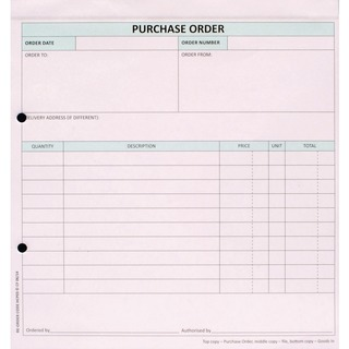 3-Part Purchase Order (50 Pack) HCP03