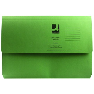Foolscap Green Document Wallet (50 Pack)