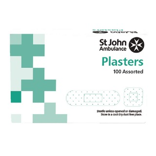 Detectable Plasters Blue Assorted Sizes (100 Pack) F9402
