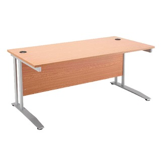 Cantilever 1400mm Beech Rectangular Desk