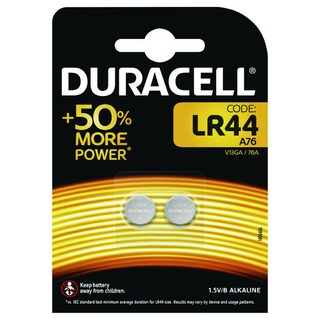 LR44 Alkaline Button Batteries Pack of 2 A76/