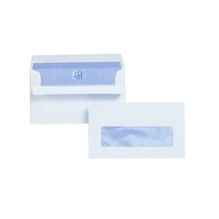 Envelope 89 x 152mm Window 110gsm Self Seal White (500 Pack)