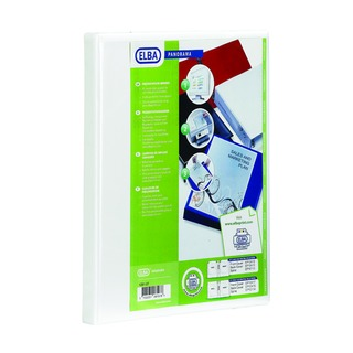 Panorama White A4 Plus 50mm 2 D-Ring Presentation Binder (4 Pack) 400007674