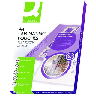 A4 Laminating Pouch 250 Micron (100 Pack)