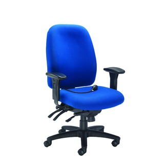 Snowdon Heavy Duty High Back Blue Chair With Lumbar Support