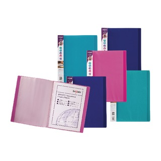 Electra Display Book A4 24 Pocket Assorted (10 Pack) 12219