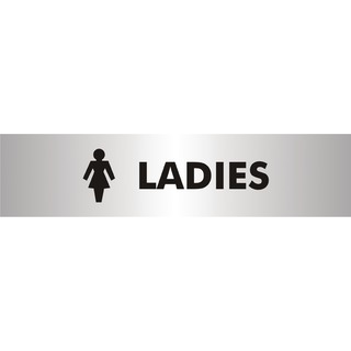 Acrylic Sign Ladies Aluminium 190x45mm SR