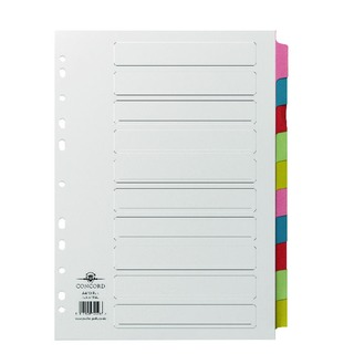 A4 10-Part Printed Index Subject Dividers 72098/P