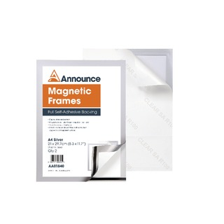Magnetic Frames A4 Silver (2 Pack)
