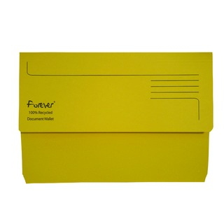 Forever Bright Yellow Document Wallet (25 Pack) 211/5003