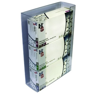 Clear Triple Disposable Glove Dispenser (2 Pack) GE/TGD