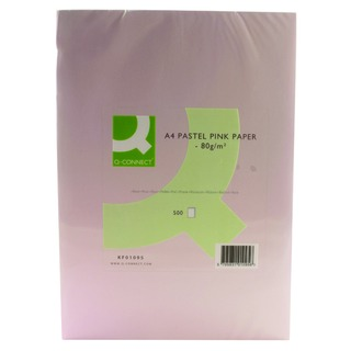 Pink Ream Coloured Copier A4 Paper 80gsm (500 Pack)