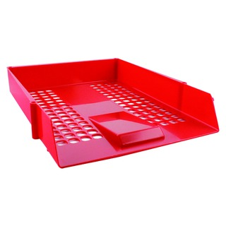 Red Plastic Letter Tray CP159KFRED