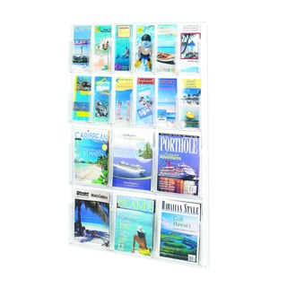 Magazine and Pamplet Display Rack 6xA4/6xDL Pockets 5600CL