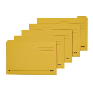 Foolscap Yellow Midweight Tabbed Folder (100 Pack) 100090237