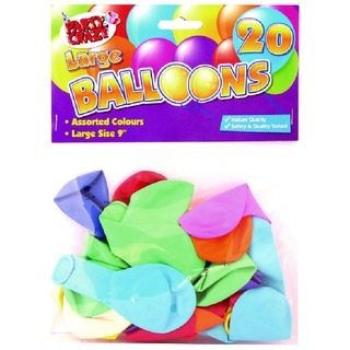 9 Inch Large Balloons (20 Pack)
