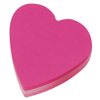 Post-it Heart 70 x 70mm Pink Notes (12 Pack) 2007H