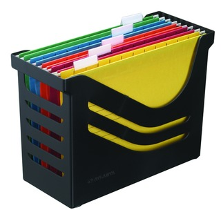 Res Black Recycled Office Box c/w 5 Files A658026998
