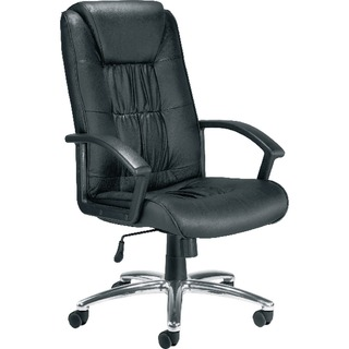 Tiber Leather Faced Executive Black Chair