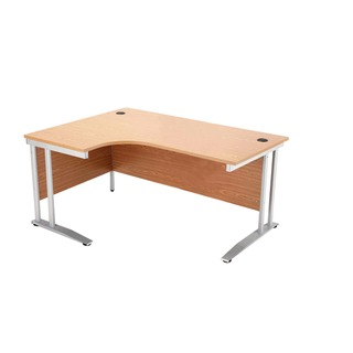 Left Hand Maple 1600mm Radial Desk