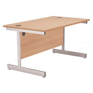 Beech/Silver 1200mm Rectangular Cantilever Desk