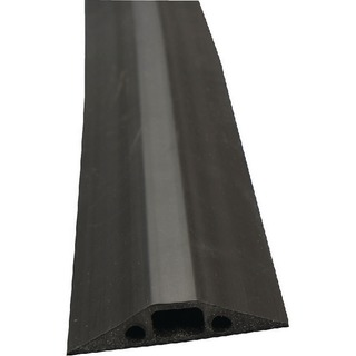 Black Medium Duty Floor Cable Cover 9m Long 68mm Wide FC68B/9M