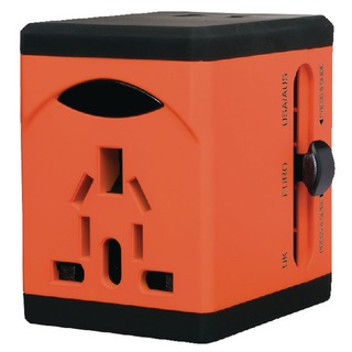 VariPlug Univers Orange Travel Adapter 40253