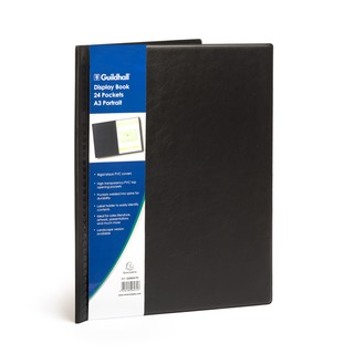 Black Display Book 24 Pockets A3 Portrait GDB24/P