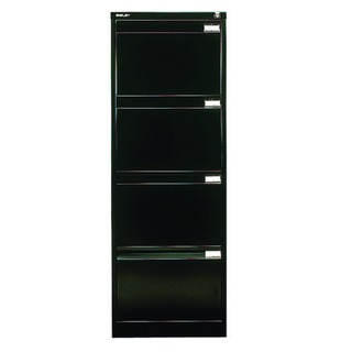 Black Four-Drawer Filing Cabinet BS4E Black