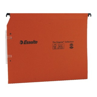 Esselte Orgarex Orange Lateral A4 File 30mm (25 Pack)