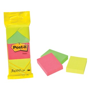 Post-it Neon Colour Notes 38x51mm 100 Sheet Pads Assorted (36 Pack) 681