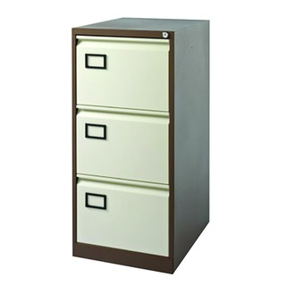 Coffee/Cream 3 Drawer Filing Cabinet
