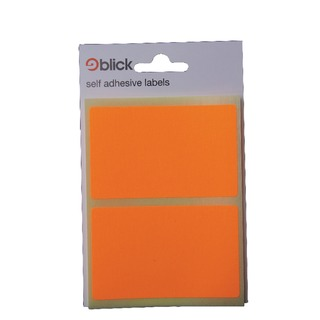 Orange Fluorescent Labels in Bags 50x80mm (160 Pack) RS010852