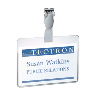 Clear Visitor Name Badge 60x90mm (25 Pack) 8147/