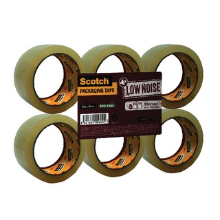 Clear Low Noise Tape 48mmx66m (6 Pack) 3707