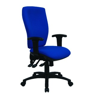 Deluxe Square High Back Posture Blue Chair