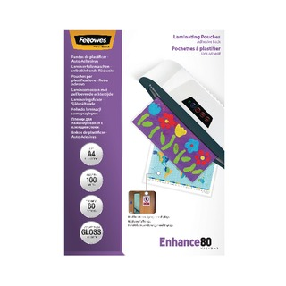 A4 Self Adhesive Enhance Laminating Pouches 160 Micron (100 Pack)