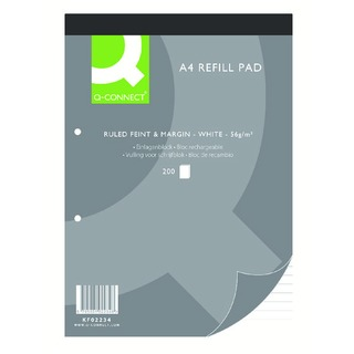 A4 Refill Pad 2 Hole Ruled (5 Pack)