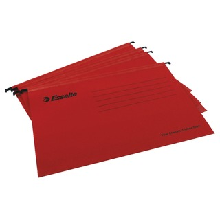 Esselte Classic A4 Red Suspension File (25 Pack)
