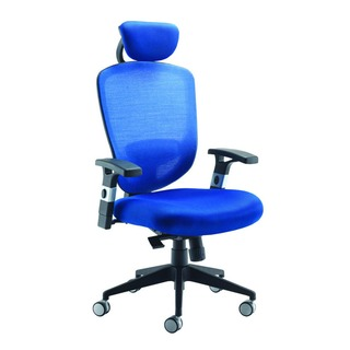 Blue Mesh High Back Task Chair With Headrest