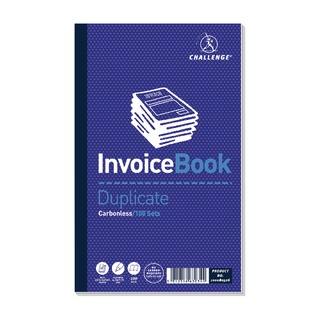 Duplicate Invoice without VAT Book Carbonless 100 Sets 210 x 130mm (5 Pack) 10008052