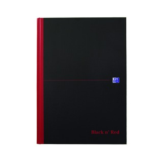 ' Red A4 Casebound Hardback Notebook Plain (5 Pack) 100080489