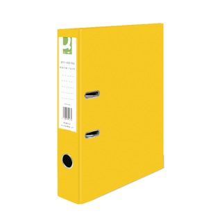 Yellow Foolscap Paperbacked Lever Arch File (10 Pack)