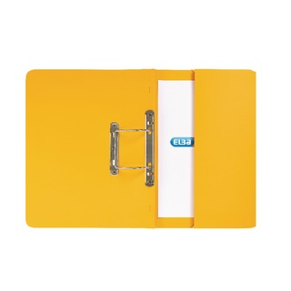 Strongline Foolscap Yellow Spring Pocket File (25 Pack) 10009015
