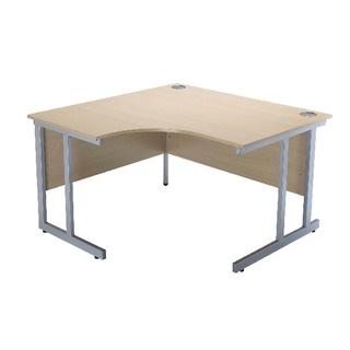 Intro Warm Maple 1200mm Radial Left Hand Cantilever Desk